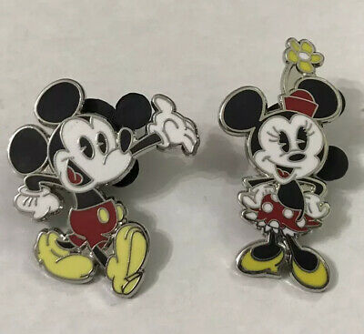 Disney Mickey & Minnie Mouse Cartoon Character Trading Pin's Lot Bundle Of 2