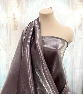Shimmer Satin  Fabric Plum 1 Yd Bridal, Drapery, Formal, Costume