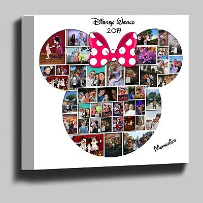 Disney Minnie Mouse shape photo collage box framed canvas print ready to hang