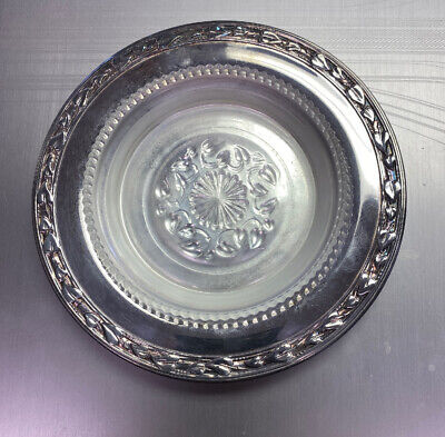 Meadowbrook Wm A Rogers Silver Plate Dish Leaves Vines Small Tray 5 1/2