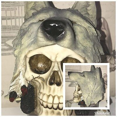 Latex Moulds for making this unusual wolf topped skull