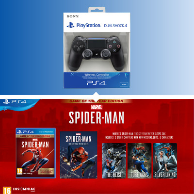 Official Sony Ps4 Dualshock 4 V2 Controller & Save On Spiderman Goty Edition