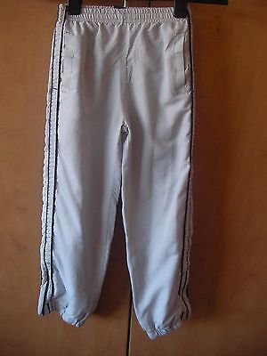 Grey Tracksuit Jogging Bottoms Boys Age 7-8 Rebel Active @ Primark Zipped Cuffs