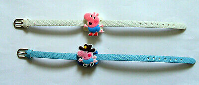 JOB LOT SHOE CHARM BRACELETS (F6) inspired by PINK PIG (2B PP) pack of 2
