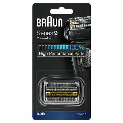 Braun 92B Series 9 Electric Shaver Replacement Foil and Cassette Cartridge Black