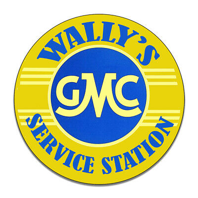 Wally's GMC Service Station Mayberry Andy Griffith Round MDF Wood Sign
