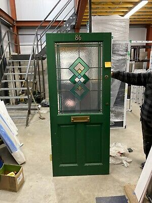 Stained Glass Reclaimed Timber Front Door