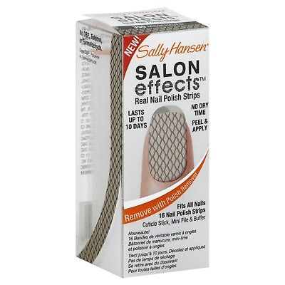 Sally Hansen Salon Effects Real Nail Polish Strips Misbehaved 16 Count