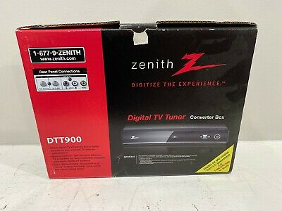 Zenith DTT900 Digital TV Tuner Converter Box w/ Cables & Remote - NEW