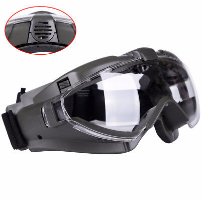 Tactical Regulator Goggles with Fan Military Anti-fog Dust Safety Glasses