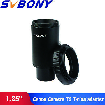 "SV 1.25"" Extension Tube M42 Thread Camera T-Mount Adapter+T2 Ring for Telescopes"
