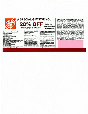 *(1)** 20% OFF HOME DEPOT*Competitors* Coupon to use at Lowe's exp 12/31/19
