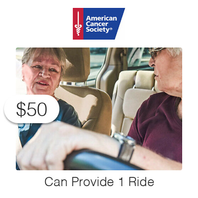 $50 Charitable Donation For: Provides One (1) Ride