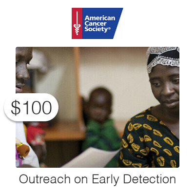 $100 Charitable Donation For: Outreach on Early Detection