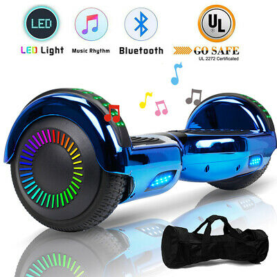 """6.5"""" Hoverboard Bluetooth Electric Self Balance Scooter with Bag Side Light LED"""
