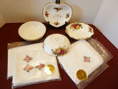 Royal Albert Old Country Roses Lot **Napkins, Placemats, Sauce Bowls, Plus