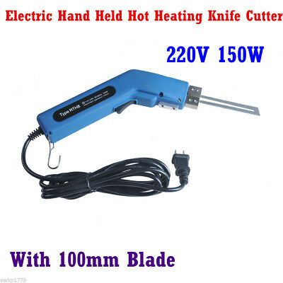 Heavy Duty Electric Hand Held Hot Heating Knife Cutter Tool + 100mm Blade 220V