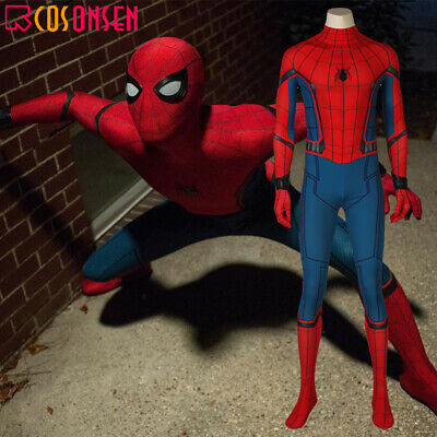 Spider Man Homecoming Cosplay Peter Costume Zentai Jumpsuit 3D Printed Bodysuit