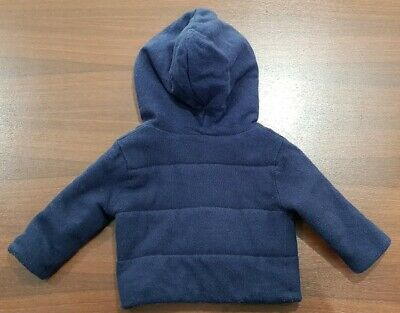 Country Road Boys Navy Blue Fully Lined Hooded  Jacket Size 0