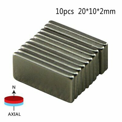 10/20/50X N52 Neodymium Block Magnet Super Strong Rare- Earth Magnets Kids Adult