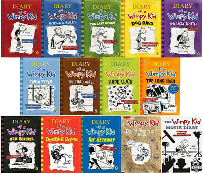 diary of a wimpy kid complete collection 14 books set by jeff kinney rodrick rul