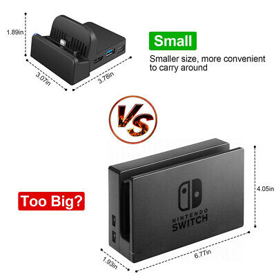 NS HDMI Adapter TV Charger Charging Dock Stand Cooling For Nintendo Switch