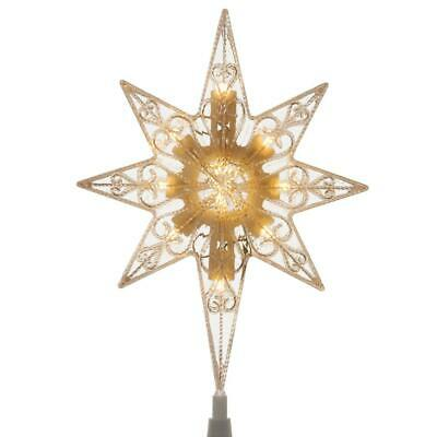 11 in Christmas Tree Topper Star Ornament Warm White LED Light Battery Operated