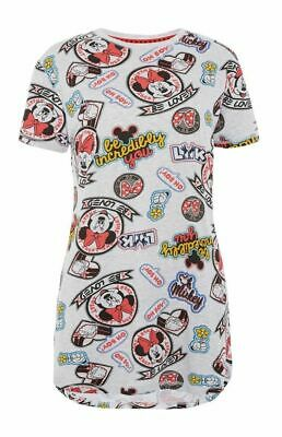 Women Ladies Girl`s Mickey Mouse Nightdress Long T Shirt Pyjama Nightie Primark