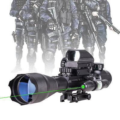 Pinty 4-16x50 Rangefinder Rifle Scope +Holographic Reflex Sight+ Green Dot Laser