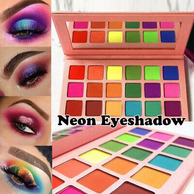 Silky Powder Pigmented Neon Eyeshadow Palette Matte Glitter Eye Shadow Shimmer