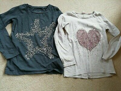Girls Sparkly Long Sleeved Tops NEXT Age 7 Years