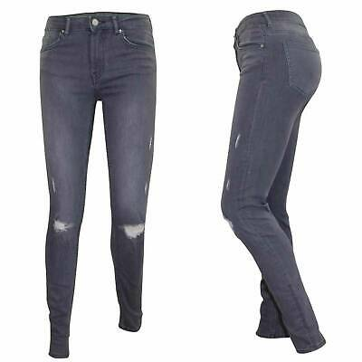 Ladies Ripped Skinny Jeans Stretch Cotton Denim Women Pants Trousers All Sizes