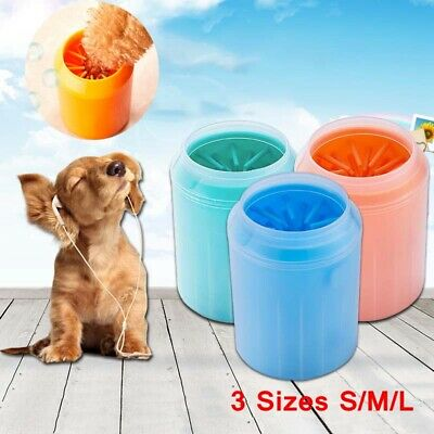 PetS Cat Dog Foot Cleaning Cup Soft Silicone Washing Brush Paw Cleaner Washer UK