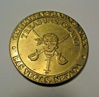 Vintage Treasure Island Casino Las Vegas $1.00 Casino Chip Gaming Token