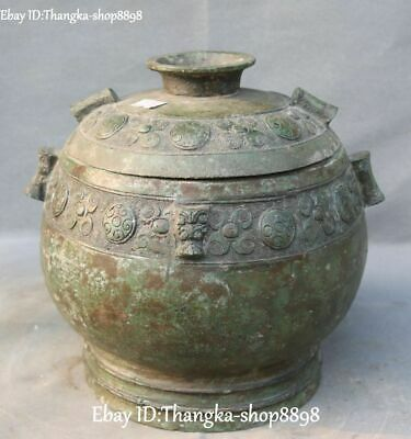 China Ancient Bronze Ware Lion Beast Head Incense Burner Censer Incensory