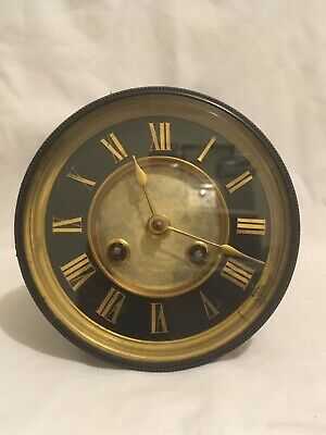 Antique French 8 Day Gong Clock Movement - R Stewart - Paris - Spares or Repair