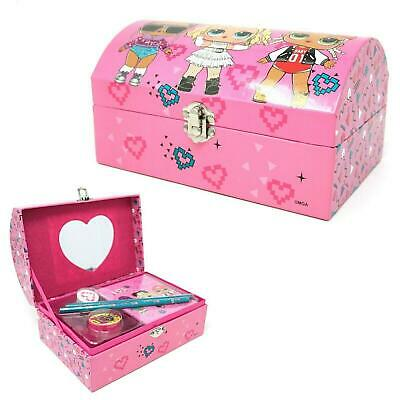 LOL Surprise Jewellery Stationary Chest Box Mirror Storage Pink Doll Xmas Gift