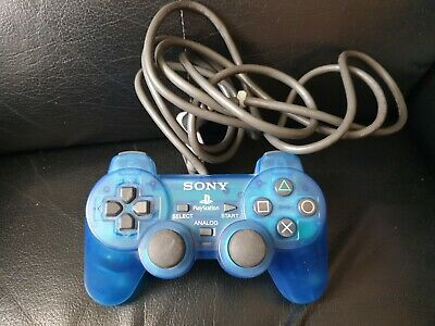 Official Sony Playstation 1 & 2 Dual Shock Blue Controller, Tested, Trusted Shop