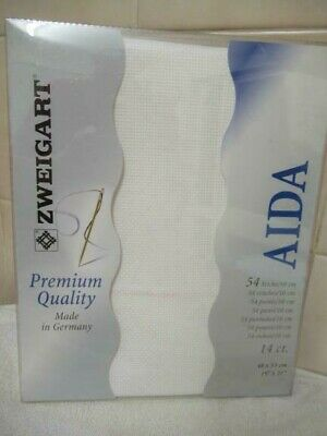 Aida Embroidery Fabric, 19x21inch, 14 count, white, NEW pack