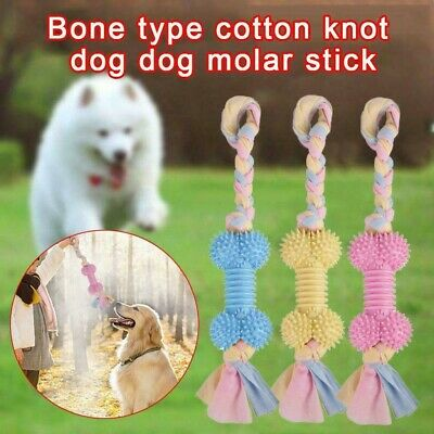 Pet Dog Doggy Squeaky Chew Ball Rubber Fetch Toys Dental Teething Mola Training
