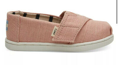DHW* Toms Coral Pink Canvas Toddler Classics SIZE UK 5/EU 21.5
