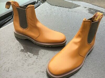 Vintage Dr Martens 2976 tan chelsea leather boots UK 8 EU 42 Made in England