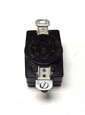 Receptacle, L5-20, 20 Amp, 125 Volt Ac, 2 Pole, 3 Wire, Single Phase