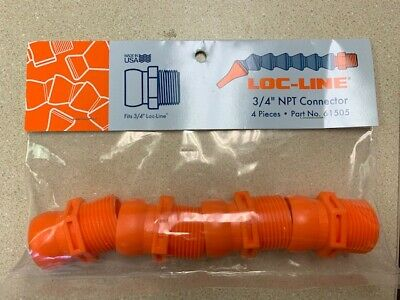 """3/4"""" NPT Connector Male for Loc-Line® USA 3/4"""" System 4 Pieces per Pack  #61505"""