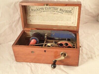 Antique, Magneto-Electric Quackery Medicine Shock Machine for Nervous Disorders.