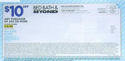 Bed Bath And Beyond Coupon $10 Off Any Purchase Of $30 Or More Exp 1-2-20