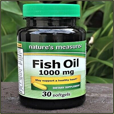 OMEGA-3 Fish Oil HIGH EPA DHA Non GMO By Natures Measure Softgels With IRON
