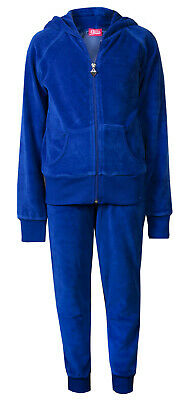 Love Lola Childrens Girls Velour Cuff Tracksuit Royal Blue Age 2/3 Brand New