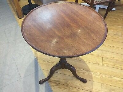 ANTIQUE dished folding top Mahogany Georgian George II Tripod Table CIRCA 1750