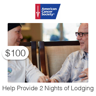 $100 Charitable Donation For: One (2) Nights of Lodging